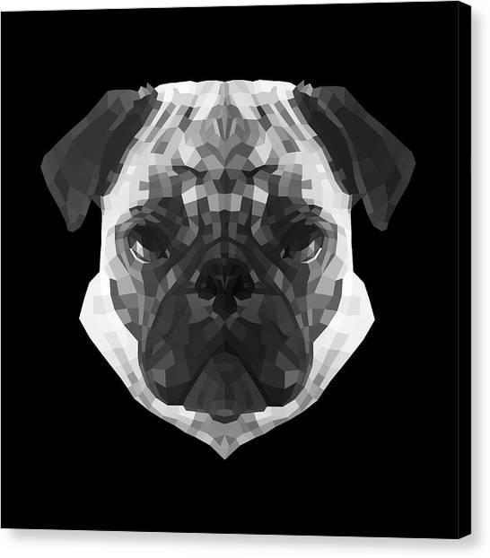 Lynx Canvas Print - Pug's Face by Naxart Studio