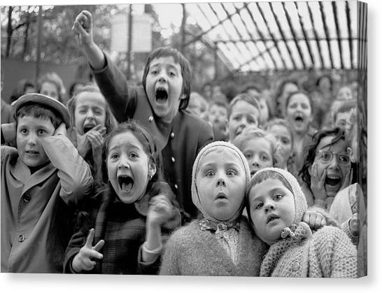 Puppet Audience Canvas Print by Alfred Eisenstaedt