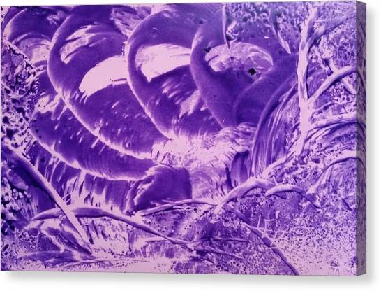 Purple Abstract, Octopus Canvas Print