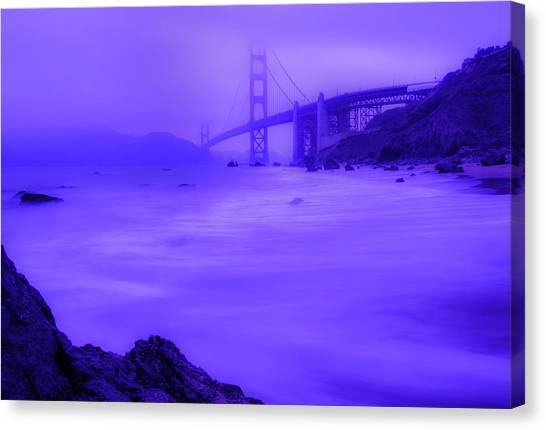 Purple Golden Gate Fog Canvas Print