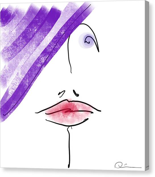 Purple Hat Canvas Print