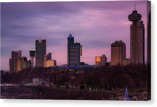 Purple Haze Skyline Canvas Print