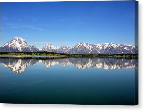 Canvas Print featuring the photograph Purple Mountains Majesty by Sue Collura