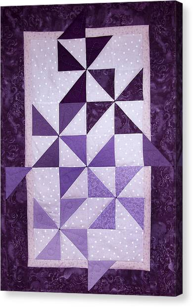 Purple Pinwheels Pirouetting Canvas Print