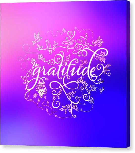 Purply Pink Gratitude Canvas Print