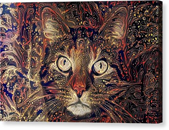 Mystic In Paisley Canvas Print