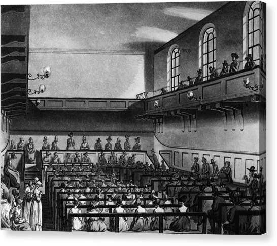 Quakers Meeting Canvas Print by Hulton Archive