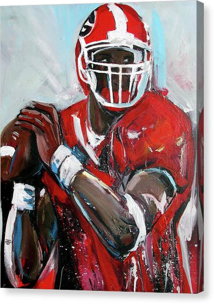 Quarterback Canvas Print