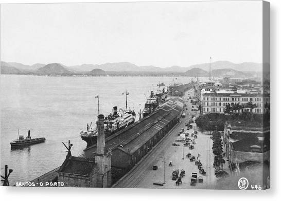 Quayside In Santos Canvas Print by Hulton Archive