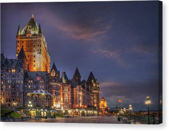 Quebec City, Chateau Frontenac Hotel Canvas Print by Buena Vista Images