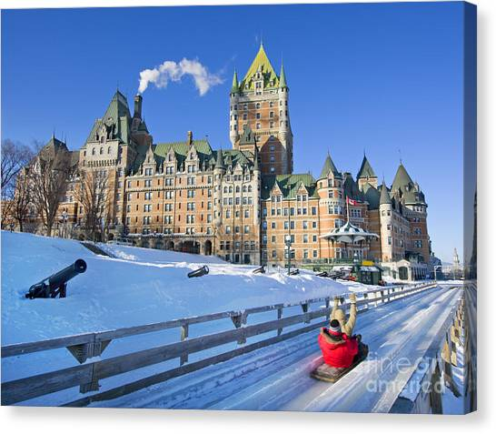 Quebec City Canvas Print - Quebec City In Winter, Traditional by Vlad G