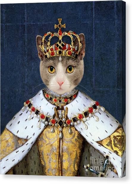 Queen Elizabeth Canvas Print - Queen Cat Elizabeth I by Delphimages Photo Creations
