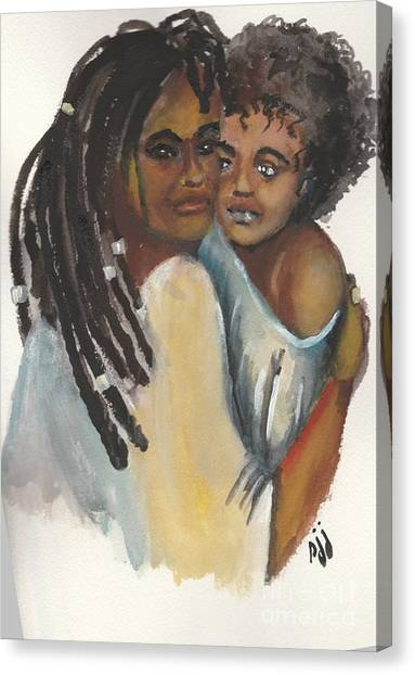 Canvas Print featuring the painting Queen Love by Saundra Johnson