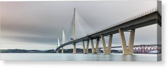 Queensferry Crossing Bridge 3-1 Canvas Print