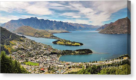 Mountainscape Canvas Print - Queenstown by Delphimages Photo Creations