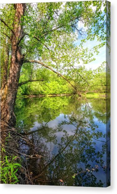 Canvas Print - Quiet Reflections by Debra and Dave Vanderlaan