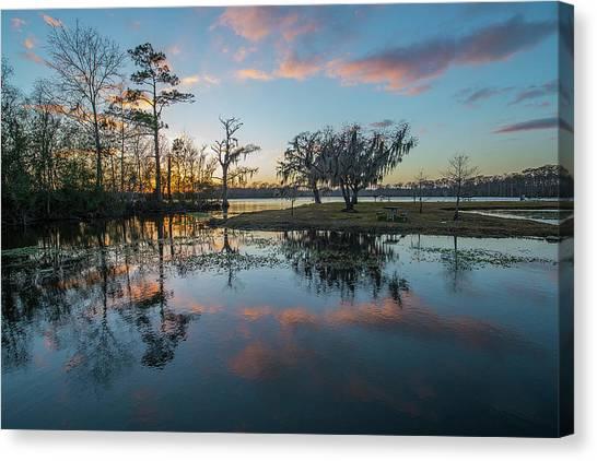 Quiet River Sunset Canvas Print