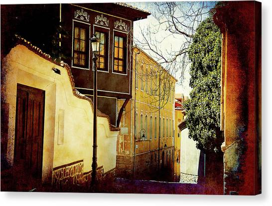 Canvas Print featuring the photograph Quiet Street by Milena Ilieva