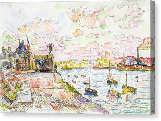 Signac Canvas Print - Quilleboeuf - Digital Remastered Edition by Paul Signac