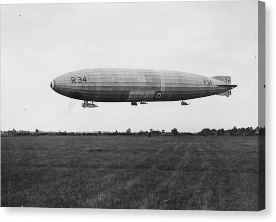 R34 Airship Landing Canvas Print by Jimmy Sime