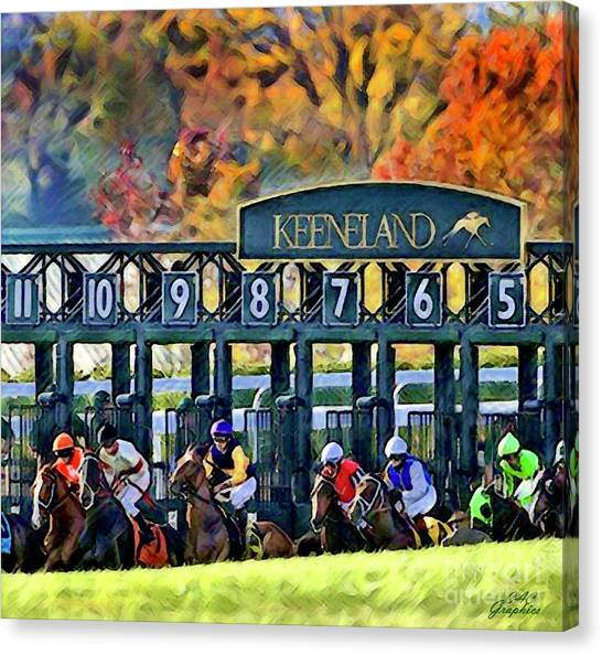 Fall Racing At Keeneland  Canvas Print