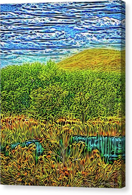 Canvas Print featuring the digital art Radiant Peaceful Day by Joel Bruce Wallach