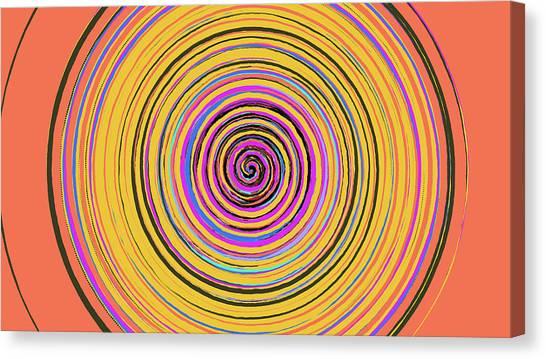 Radical Spiral 19023 Canvas Print by REVAD David Riley