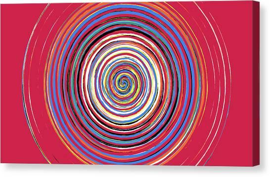 Radical Spiral 19044 Canvas Print by REVAD David Riley