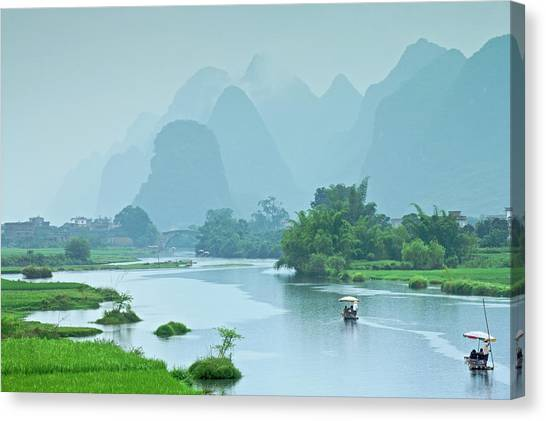 Rafting In China Canvas Print