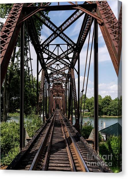 Railroad Bridge 6th Street Augusta Ga 1 Canvas Print