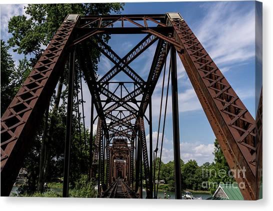 Railroad Bridge 6th Street Augusta Ga 2 Canvas Print