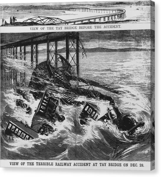 Railway Accident Canvas Print by Hulton Archive