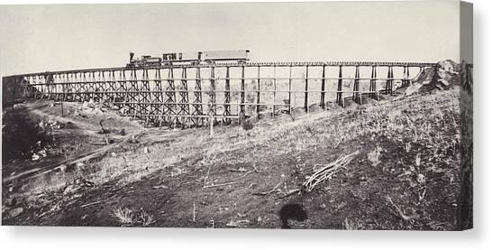 Railway Bridge Canvas Print by Otto Herschan Collection