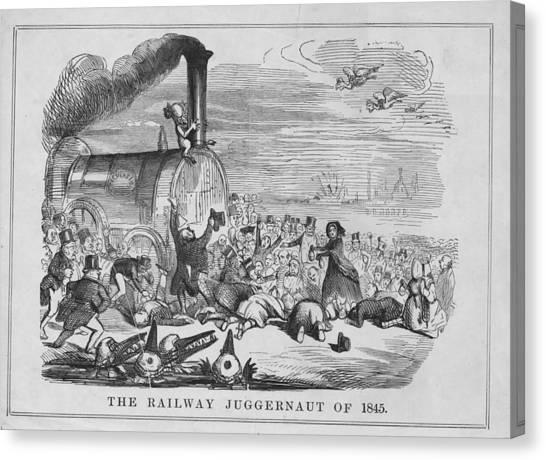 Railway Juggernaut Canvas Print by Hulton Archive