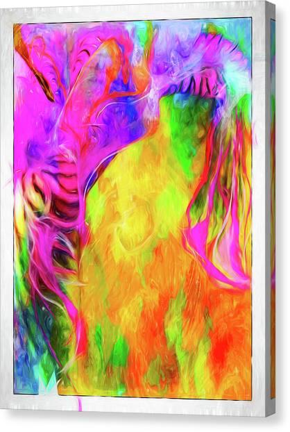 Rainbow Blossom Canvas Print