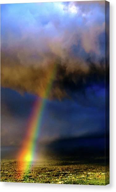 Rainbow During Sunset Canvas Print
