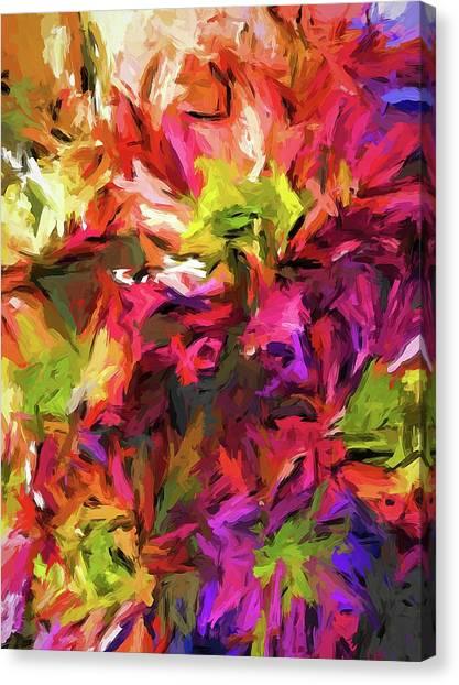 Rainbow Flower Rhapsody In Pink And Purple Canvas Print