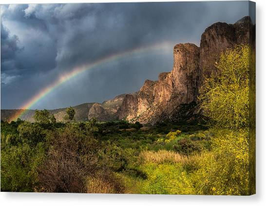Canvas Print - Rainbow Over The River  by Saija Lehtonen