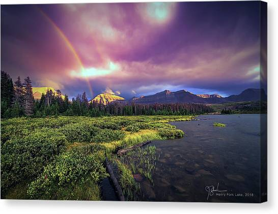 Uinta Canvas Print - Rainbows Over Gunsight by James Zebrack