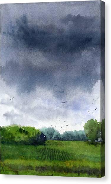 Rains Coming Canvas Print