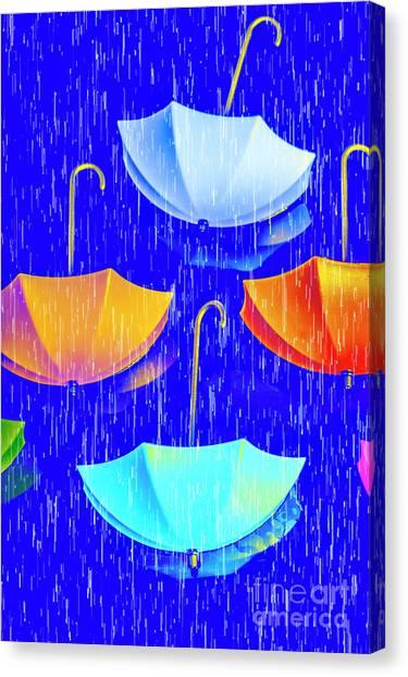 Nobody Canvas Print - Rainy Day Parade by Jorgo Photography - Wall Art Gallery