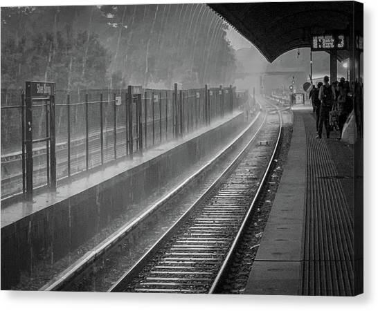 Rainy Days And Metro Canvas Print