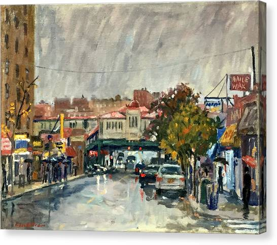 Rainy Morning 231st Street The Bronx Canvas Print