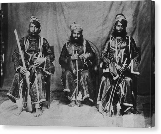 Rajput Warriors Canvas Print by Henry Guttmann Collection