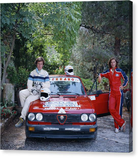 Romeo Canvas Print - Rallying Aristocracy by Slim Aarons