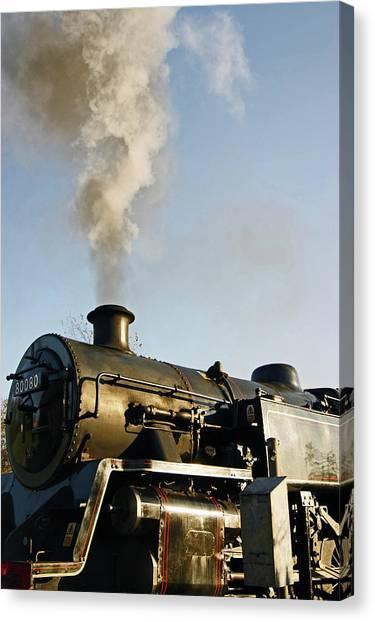 Ramsbottom. East Lancashire Railway. Locomotive 80080. Canvas Print