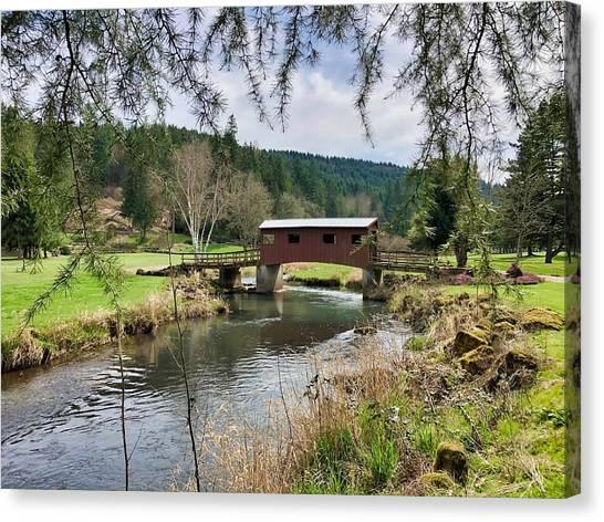 Ranch Hills Covered Bridge Canvas Print