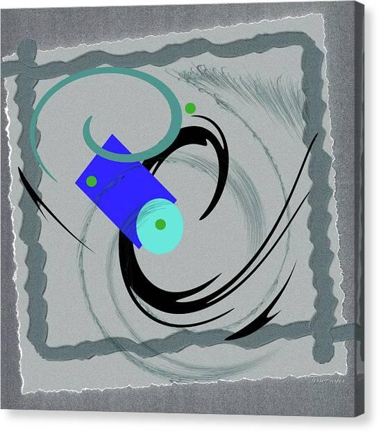 Randomness Variations 5, On Paper Montage Canvas Print