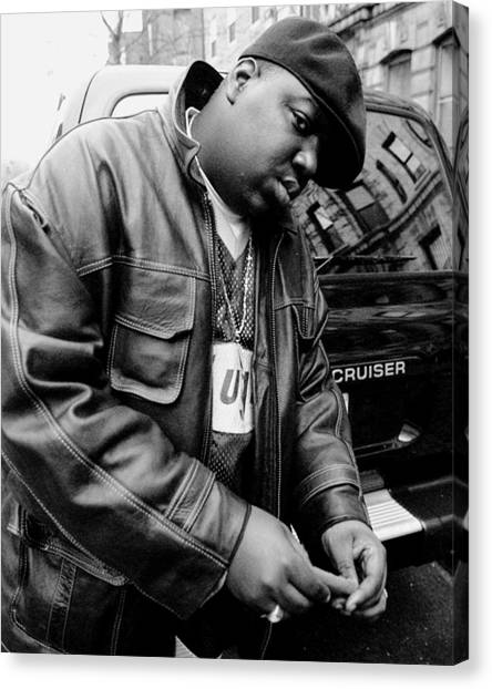 Rapper Notorious B.i.g., Aka Biggie Canvas Print