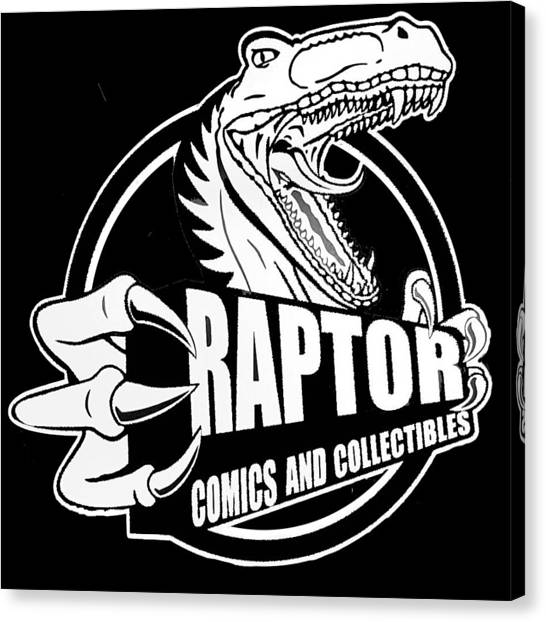 Raptor Comics Black Canvas Print